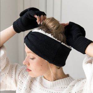 BEARPAW COMBO SET: HEADBAND ANF POP-TOP GLOVE DUO